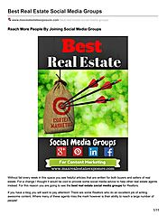 Real Estate Social Media Groups