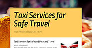 Taxi Services for Safe Travel