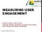 Understanding Depth / Page Views per Session: Measuring Quality User Engagement Onsite