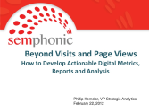 Beyond Visits and Page Views: How to Develop Actionable Web Metrics, Reports, and Analysis