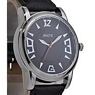 Adine Admirable Black Round Dial luxury watches For Men