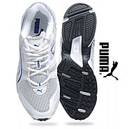 Puma Aquil Ind White & Cobalt Blue Running Shoes for Men
