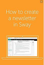 ​How to Create a Newsletter in Sway - Microsoft Sway Tutorials