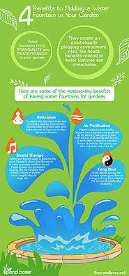 4 Benefits to Adding Water Fountains in Your Garden | The Pond Boss