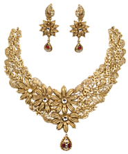 Gold Necklace Set Designs | Chungath Jewellery