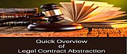 Significance of Legal Contract Abstraction Management These Days