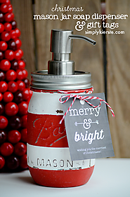 Christmas Mason Jar Soap Dispenser & Gift Jar - Simply Kierste