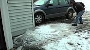 How to clear very thick ice from your driveway in minutes.