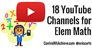 18 YouTube Channels for Elementary Math