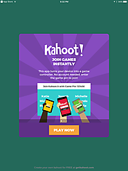 Website at https://create.kahoot.it/#