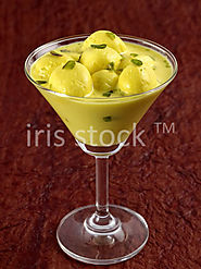 MALAI GULLA SERVED IN A COCKTAIL GLASS