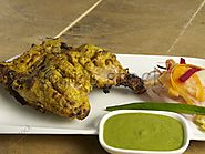 panch phoran chicken bengali style with mint chutney
