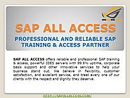 Sap Training And Support India| Online SAP Server Access India