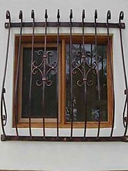 Stylist collection of wrought iron doors