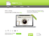 PSD to HTML. PSD to XHTML