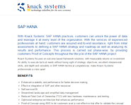 SAP HANA Solutions by Knack Systems