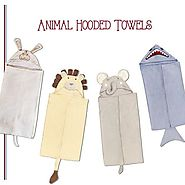 Shop Animal Hooded Towels Online At Little West Street