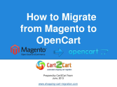 How to Migrate from Magento to OpenCart