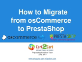 How to Migrate from osCommerce to PrestaShop