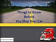 Things to Know Before You Ship Your Car