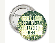 Social Vegan Pin