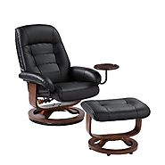 Best Leather Swivel Recliner Chair And Ottoman Set For Relaxation.