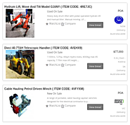 Selling New and Used Machines & Equipment Online