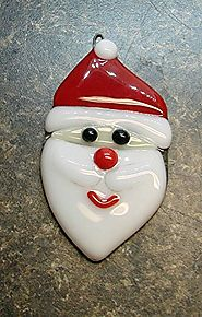 Fused Glass Father Christmas Tree Decoration and Gift Idea