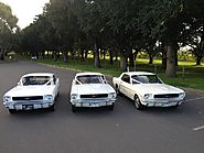 1966 White Hard Top Mustang (3 Passengers Plus Driver) Classic Car for Hire in Melbourne - Exclusive Limousines