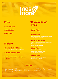 Fresh Fries Truck Menu | Film Set Catering Menus