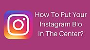 How to Put Your Instagram Name and Bio in The Middle | Tech Tip Trick