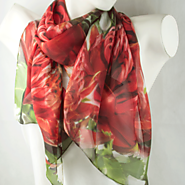 Attractive Scarves For Women With Flower Design.