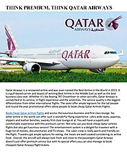 Think Premium, Think Qatar Airways