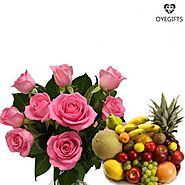 Get Exotic and Graceful Flowers with Fruit Basket