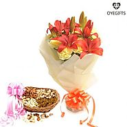Celebrate the day with Flowers and Dry Fruits