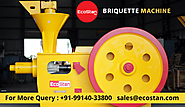 Sawdust Briquette Machine For Sale By EcoStan