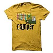 funny happy camping - camper!