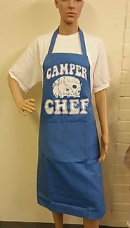 "Blue Novelty Camper Van Apron ""Camper Chef"" Perfect Gift for a Man or Women who Loves Camping"