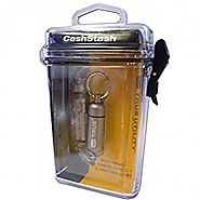 Metal Waterproof Secret Keyring for Emergency Money Storage - Gift for a Camping Lover