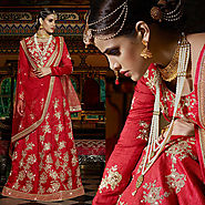 Stunning Bridal Wear Lehengas With Embroidery Work By Designersandyou