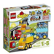 LEGO DUPLO My First Cars and Trucks Educational Preschool Toy Building Blocks For Your Toddler