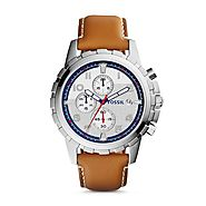 Fossil Grant Chronograph Leather Strap Men's Watch - FS5069