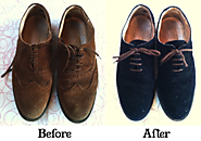 MEN'S SHOE DYEING