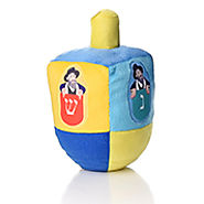 Plush Dreidel - Mensch on a Bench