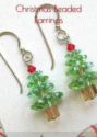 Christmas Beaded Earrings