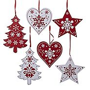 Wooden Scandinavian Style ChristmasTree Decorations