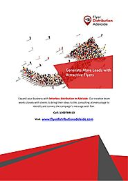Generate More Leads with Flyer Distribution