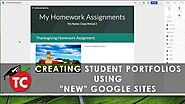 Using 'NEW' Google Sites to create Student Portfolios