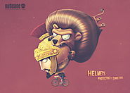 These Adorable Print Ads for Nutcase Helmets Show Protective Headgear Through Time
