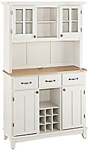 Home Styles Buffet of Buffets Natural Wood Top Buffet Server and Hutch